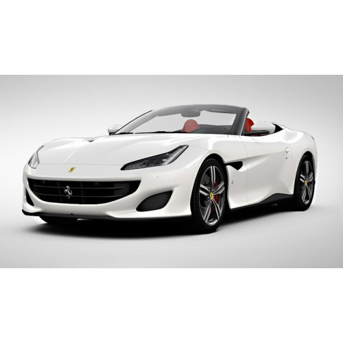1 18 voiture miniature de collection ferrari portofino cabriolet blanc italien 2017. Black Bedroom Furniture Sets. Home Design Ideas