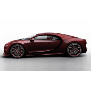 1/43 BUGATTI VOITURE MINIATURE DE COLLECTION Bugatti Chiron Skyview rouge carbone/noir-2018-LOOKSMARTLOOLS494E