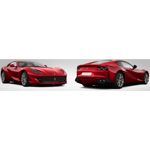 1 18 voiture miniature de collection ferrari 812 superfast rouge feu perl 2017 looksmartlools18. Black Bedroom Furniture Sets. Home Design Ideas