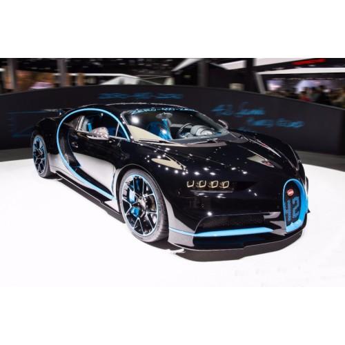 1/43 voiture miniature bugatti chiron zero-400-zero noir/bleu-2017