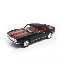 1/18 CHEVROLET CAMARO Z28 1967 NOIR BANDES ROUGE-LUCKY DIE CAST