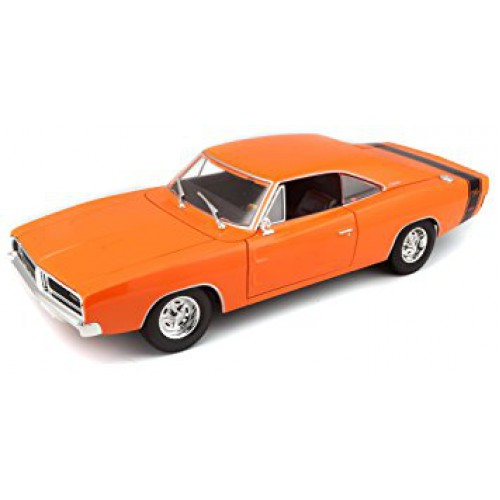 1 18 voiture miniature de collection dodge charger r t orange 1969 maistomai31387 vente de. Black Bedroom Furniture Sets. Home Design Ideas