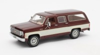 1/43 CHEVROLET VOITURE MINIATURE DE COLLECTION Chevrolet Suburban marron métallisé-1974-MATRIXMAX20302-372