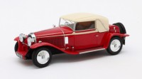 1/43 BUGATTI VOITURE MINIATURE DE COLLECTION BUGATTI TYPE 46 CABRIOLET FREME ROUGE/BEIGE 1930-MATRIXMAX40205/032