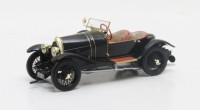 1/43 VOITURE MINIATURE DE COLLECTION CABRIOLET Bugatti 18 sports 2 sièges Black Bess noir-1910-MATRIXMAXLM02-0205