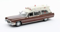 1/43 VEHICULES DE SECOURS MINIATURE Cadillac Superior 51+ Ambulance marron-1970-MATRIXMAX20301-193