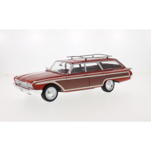 1 18 voiture miniature de collection break ford country squire rouge bois 1960 mdg18074 vente. Black Bedroom Furniture Sets. Home Design Ideas