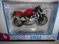 1/18 MOTO MINIATURE DE COLLECTION MV AGUSTA BRUTALE ORO-BURAGO