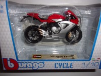 1/18 MOTO MINIATURE DE COLLECTION MV AGUSTA F3-BURAGO