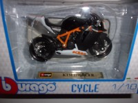 1/18 MOTO MINIATURE DE COLLECTION KTM 1190 RC8R-BURAGO