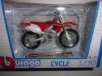 1/18 MOTO MINIATURE DE COLLECTION HONDA CRF 450R-BURAGO