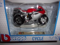 1/18 MOTO MINIATURE DE COLLECTION MV AGUSTA F4-BURAGO