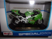 1/18 MOTO MINIATURE DE COLLECTION KAWASAKI NINJA ZX-12R SPECIAL EDITION-MAISTO