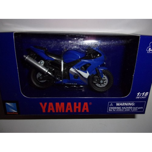 1 18 moto miniature de collection yamaha yzf r6 newray vente de voitures miniatures pour. Black Bedroom Furniture Sets. Home Design Ideas