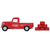 "1/24 FORD A MINIATURE DE COLLECTION FORD A PICK UP ""COCA-COLA"" 1934 AVEC 6 CARTONS-MOTORCITYMCITY424065"