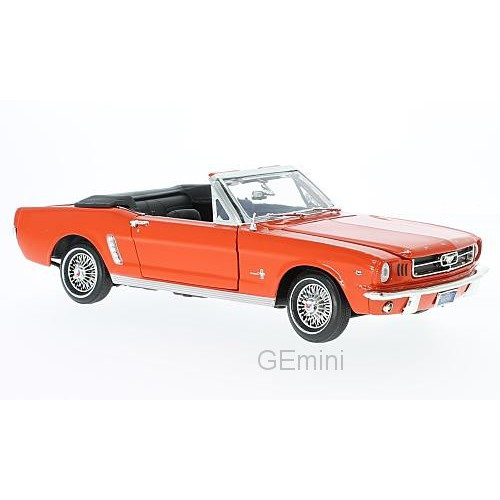 1 18 voiture miniature de collection ford mustang cabriolet orange 1964 motormaxmtm73145ora. Black Bedroom Furniture Sets. Home Design Ideas
