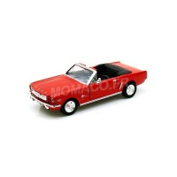 1/24 VOITURE MINIATURE DE COLLECTION FORD MUSTANG 1/2 CONVERTIBLE 1964 ROUGE-MOTORMAXMMAX73212RD