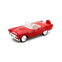 1/24 VOITURE MINIATURE DE COLLECTION FORD THUNDERBIRD 1956 ROUGE-MOTORMAXMMAX73215RD