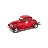 1/24 VOITURE MINIATURE DE COLLECTION FORD COUPE HARD TOP 1934 ROUGE METAL-MOTORMAXMMAX73217MR