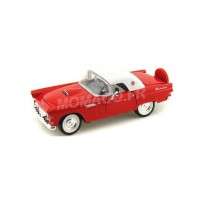 1/24 VOITURE MINIATURE DE COLLECTION FORD THUNDERBIRD HARD TOP 1956 ROUGE-MOTORMAXMMAX73312RD