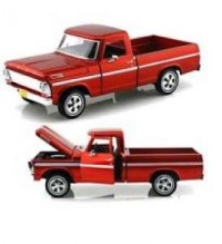 1/24 VEHICULE MINIATURE FORD F100 PICK-UP 1969 ROUGE-MOTORMAXMMAX79315RD