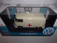 1/24 VEHICULES DE SECOURS MINIATURE DE COLLECTION COMBI Volkswagen T1 Ambulance-MOTORMAXMTM79565