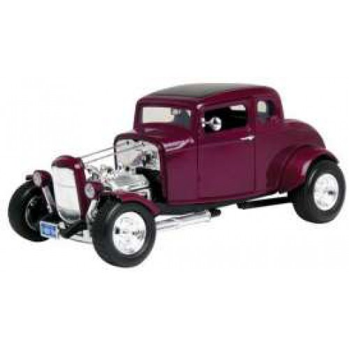 1 18 voiture miniature de collection ford hot rod newstalgia bordeaux 1932 motormaxmtm73172pur. Black Bedroom Furniture Sets. Home Design Ideas