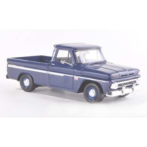 1 24 vehicule utilitaire miniature chevrolet c10 fleetside pick up bleu fonc 1966. Black Bedroom Furniture Sets. Home Design Ideas