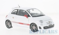 1/24 VOITURE MINIATURE DE COLLECTION Fiat 500 Abarth blanc/rouge-2008-MOTORMAXMTM73380WHI
