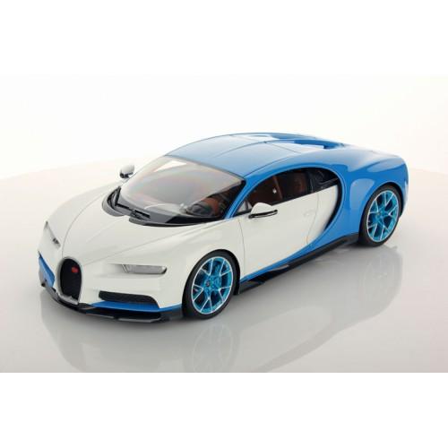 1/18 voiture miniature bugatti chiron bleu clair bugatti sport