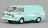 1/43 VEHICULE UTILITAIRE Chevrolet Corvair Box Van turquoise/blanc-1963-NEO