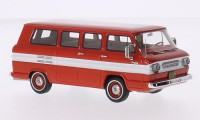 1/43 VEHICULE MINIATURE DE COLLECTION Chevrolet Corvair Sports rouge/blanc-1963-NEO