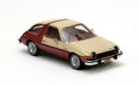 1/43 AMC Pacer VOITURE MINIATURE DE COLLECTION AMC Pacer creme / rouge métallisé-1978-NEO43521