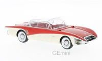 1/43 Buick century VOITURE MINIATURE DE COLLECTION Buick century XP-301 rouge/blanc-1956-NEO43845