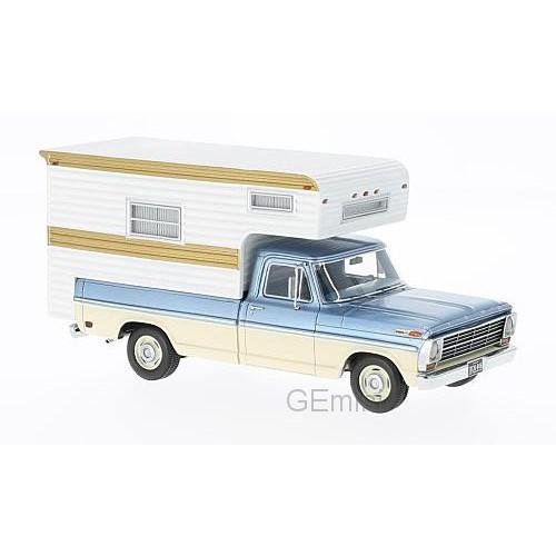 1 43 vehicule miniature de collection camping car ford f100 camping car 1968 neo vente de. Black Bedroom Furniture Sets. Home Design Ideas