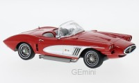 1/43 CHEVROLET VOITURE MINIATURE DE COLLECTION Chevrolet Corvette XP-700 cabriolet rouge/argent-1959-NEO46516