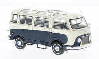 1/43 VEHICULE MINIATURE DE COLLECTION Ford FK 1000 Panoramabus blanc/bleu-1958-NEO