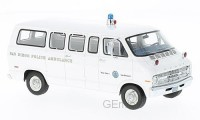 1/43 VEHICULE DE SECOURS Dodge Sportsman Police Ambulance San Diego-1973-NEO46940