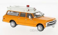 1/43 CHEVROLET VEHICULES DE SECOURS AMBULANCE Chevrolet Suburban Ambulance orange-1970-NEO47245