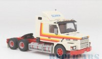 1/43 CAMION MINIATURE DE COLLECTION Scania T 142 M 6x4 blanc-1980-NEO46800