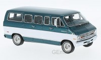 1/43 MINIBUS MINIATURE DE COLLECTION Dodge Sportsman vert métallisé/blanc-1973-NEO46942