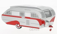 1/43 MINIATURE DE COLLECTION Caravane Aero flite Falcon travel trailer argent/rouge-1947-NEO47260