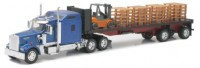 1/32 CAMION MINIATURE DE COLLECTION Kenworth W900 avec chariot et palettes-New RayNWR10263A