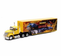 1/43 CAMION MINIATURE DE COLLECTION International Lonestar container orange-New RayNWR16663