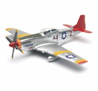 1/48 AVION MINIATURE DE COLLECTION P-51 Mustang ailerons rouge-New RayNWR20235