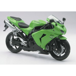 1/12 Moto de série MINIATURE DE COLLECTION MOTO Kawasaki ZX 10 R verte-2006-New RayNWR42443A