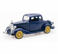 1/32 VOITURE MINIATURE DE COLLECTION Chevrolet Master cabriolet bleu-1938-NEW RAYNWR55043SS