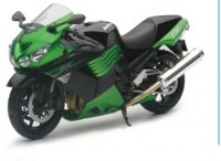 1/12 MOTO MINIATURE DE COLLECTION MOTO Kawasaki ZX-14 couleurs variables-2011-New RayNWR57433