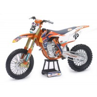 1/10 MOTOCROSS MINIATURE DE COLLECTION KTM 450 SX-F Red Bull #25-2017-PILOTÉE PAR Musquin-NEWRAYNWR57963