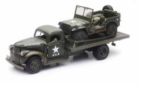 1/32 VEHICULES FORCES DE L'ORDRE MILITAIRE JEEP WILLYS AVEC CHEVY REMORQUE PLATEAU-1941-NEWRAYNEW61053BSS